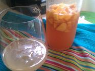 Peach Ginger Shrub